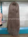 Human hair full lace wigs 4