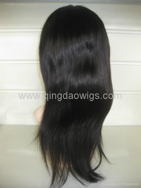 Human hair full lace wigs& lace front wigs in stock 3