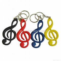 Musical note key chain,music gifts