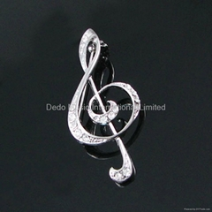 Fashion brooch,musical gifts