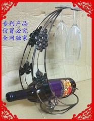 专利产品时尚挂2杯帆船红酒架