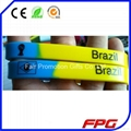 2014 world cup country flag stripe silicone bracelet