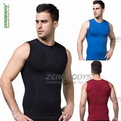 ZEROBODYS Shapewear Men's Outdoor Soprts Body Shaper Corset Sleeveless Shirt