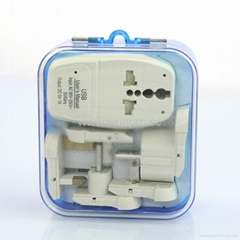 All in One Travel Adapter Kit w/USB charger(ASTDBU-SBvs) (Hot Product - 1*)
