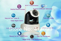 P2P 720P Megapixel HD Wireless/WiFi Pan Tilt IP Camera Baby Monitor Home use