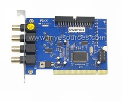 16CH Video Capture Card DVR Card GV250B V8.2-GV Card cctv video capture card