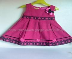 offer  2014  warp knitted velvet  dress  for girl