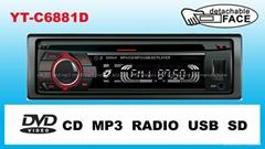 超强防震车载DVD/USB/SD/FM/AM播放机