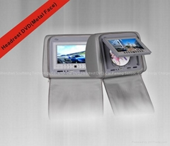 7''   Headrest DVD with USB/SD/IR/FM transmitter/Game Function and Metal face