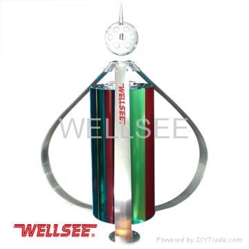 Wellsee brand small wind turbiens 400W vertical wind power generator   1