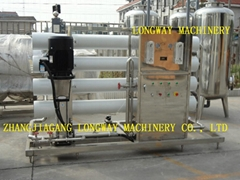 Automatic industry water treatment plant with RO