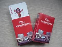 Customized advertising poker card card