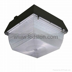 DLC ETL 80W LED gas station canopy light