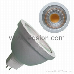 ETL SAA SHARP MR16 COB 5W 500LM 12V AC/DC Dimmable High CRI