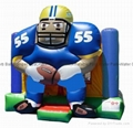 inflatable moonwalk/bouncer /NFL sports player boncer