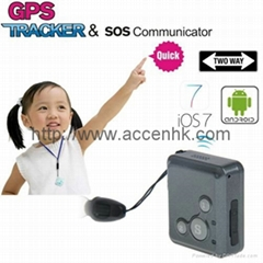 Mini GPS Tracker SOS Communicator Kids Safety 2-Way Walkie Talkie Long Standby