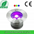 9W LED tricolor inground light with IP67