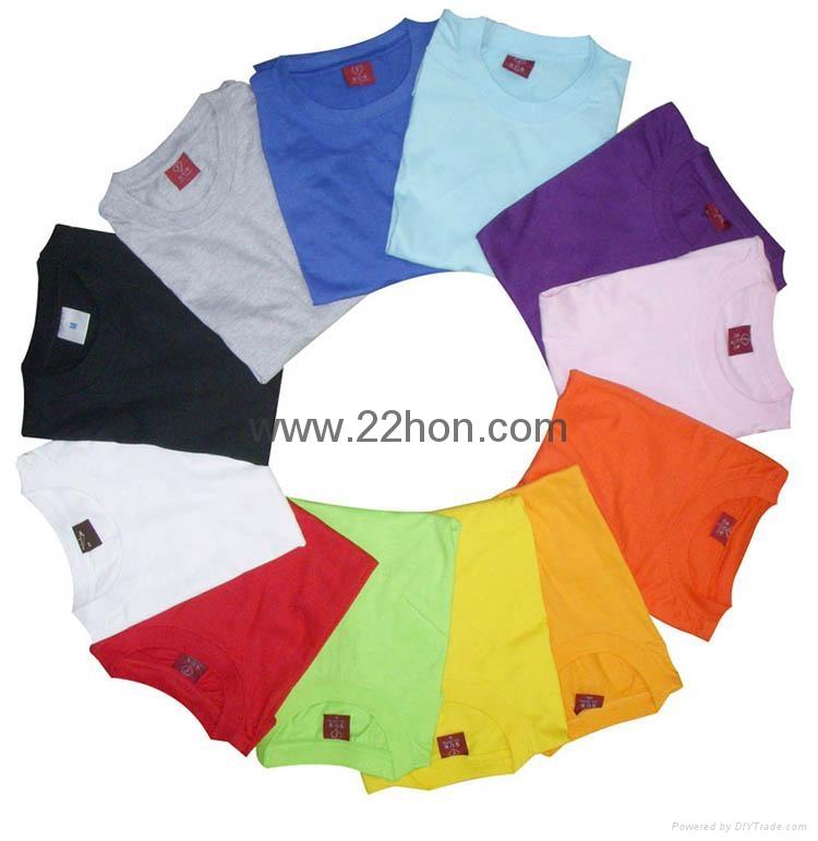 180克空白纯棉圆领T恤 1