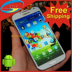 Free Shipping Cheapest Samsung S4 GT-i9500 Copy Android Smart Phone (Hot Product - 9*)