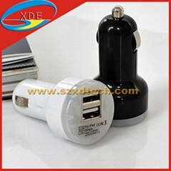 Dual USB Car Charger 2 Ports Avaliable for iPhone iPod iTouch Samsung HTC