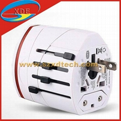 Global Transform plug with 2 USB Port Travel Adaptor Travel Charger
