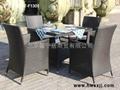 戶外新款藤編桌椅T-F1301 2