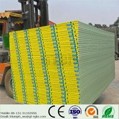 Moisture resistant drywall plasterboard