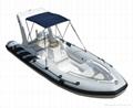 sports boat rib boat rigid inflatable