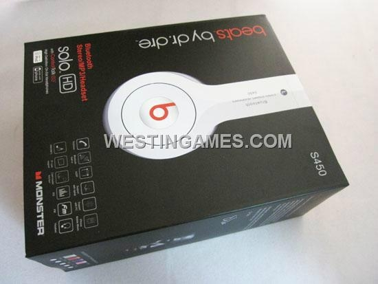 Monster Beats By Dr Dre Solo HD S450 Bluetooth Stereo Dynamic Wireless
