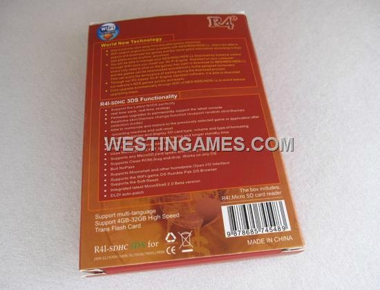 R4i-SDHC RTS V5.0.0-11 Flash Card Red Packing for NDSL/DSi/DSixl/3DS 5