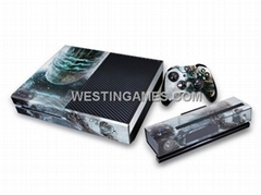 Crystal Epoxy Skin Sticker Colourful for XBOX ONE System + Wireless Controller