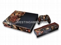 Crystal Epoxy Skin Sticker Colourful for XBOX ONE System + Wireless Controller  4