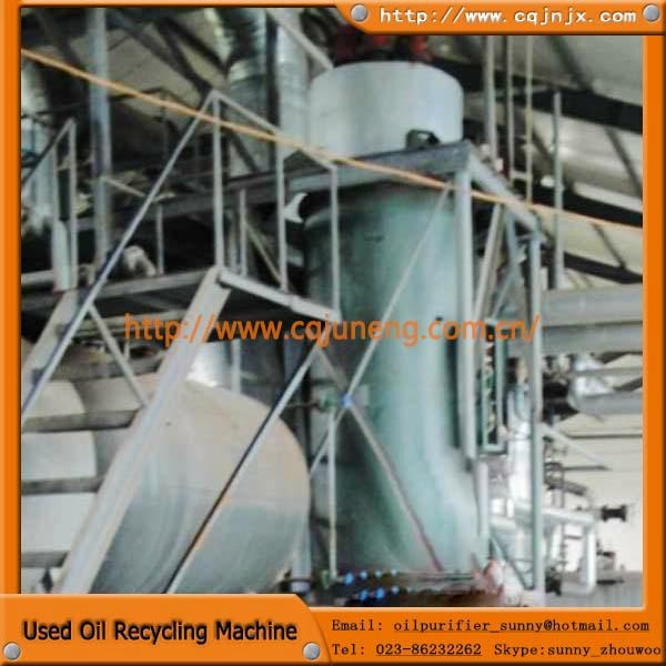 vacuum distillation machine  to base oil from motor oil 3