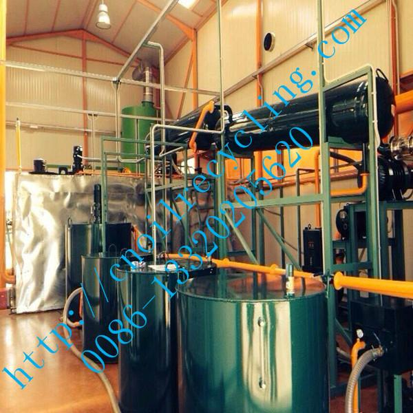 oil recycling equipment to base oil through vacuum distillation  1