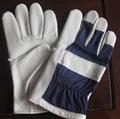 Beige cowhide gloves