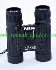 熊貓望遠鏡12X25 直筒便攜型 適合儿童的儿童望遠鏡