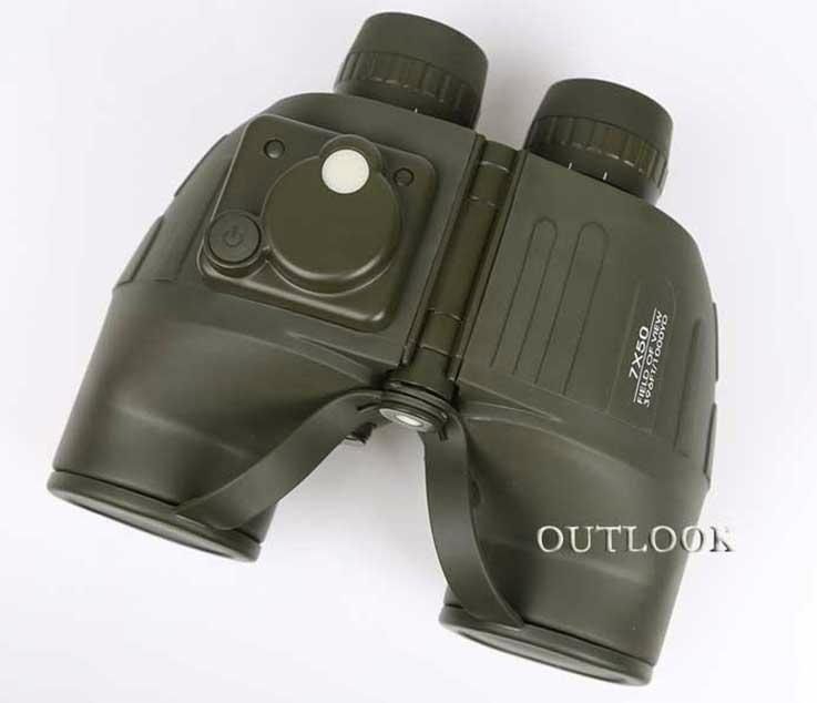 双筒望远镜7x50带罗盘。 1
