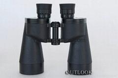 遠錦10X50雙筒望遠鏡(戰鷹)採用了廣角大視場的設計,視野很開闊