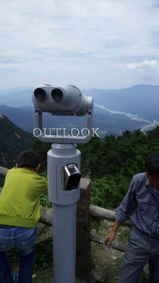 Coin operated telescope