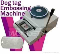Manual Military Army Dog Tag Embosser Embossing Machine
