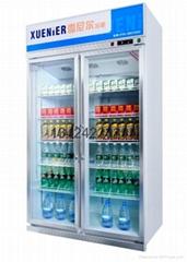 2门无霜风冷啤酒饮料冰箱