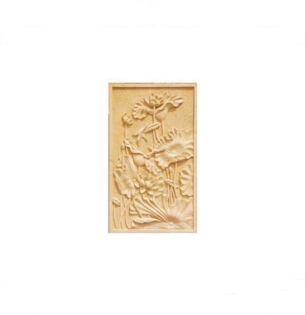 广州砂岩浮雕荷花图 1