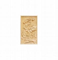 廣州砂岩浮雕荷花圖