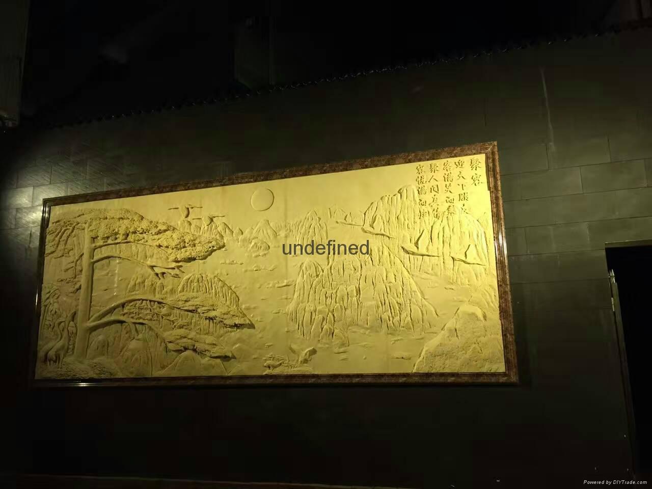 砂岩浮雕歌舞仕女壁画 4