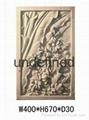 广州砂岩浮雕荷花图 4