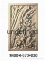 廣州砂岩浮雕荷花圖 4