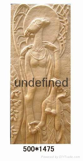 仿砂岩壁畫人物浮雕 5