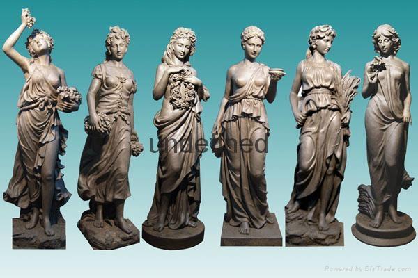 番禺砂岩人物雕塑 5