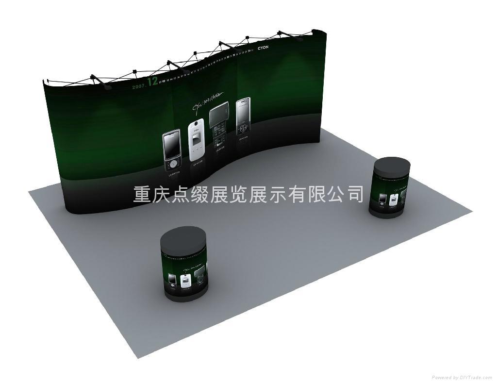 重慶天地柱服裝展架 5