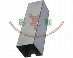 不鏽鋼異型管-方單槽管